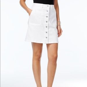 Vince Camuto White Size 30/10 Pencil Button Skirt